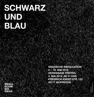 © 2012 Small Room Big Ideas - Schwarz und Blau - hekmek